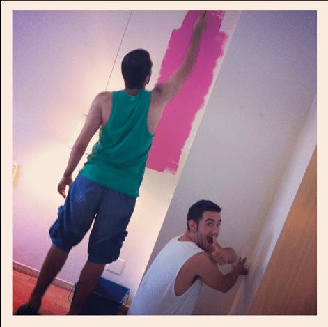 jaume pintando